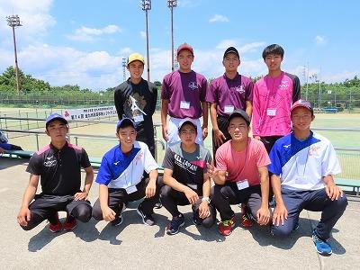 ソフトテニス部 九州高総体(団体戦)